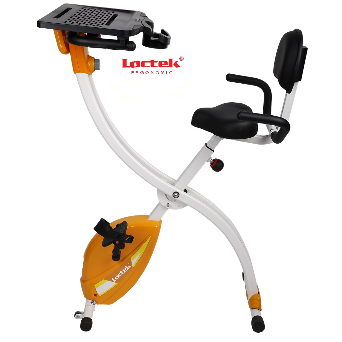 Loctek Foldable Exercise Office Cycling Work Station Yellow